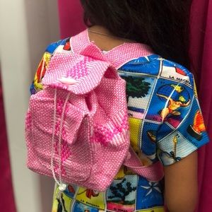 Mexican Mini Backpack Colorful Striped Woven